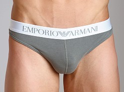 Emporio Armani Basic Stretch Cotton Thong Sage
