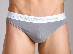 Emporio Armani Basic Stretch Cotton Thong Mastic