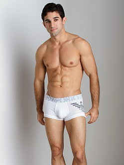 Emporio Armani Big Logo Vintage Stretch Cotton Trunk White