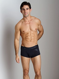 Emporio Armani Big Logo Vintage Stretch Cotton Trunk Marine