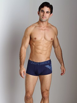 Emporio Armani Big Logo Vintage Stretch Cotton Trunk Blueberry