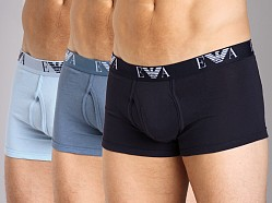 Emporio Armani Genuine Cotton 3-Pack Trunk Marine/Smokey Blue/Ic