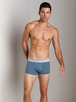 Emporio Armani Soft Cotton Trunk Smokey Blue