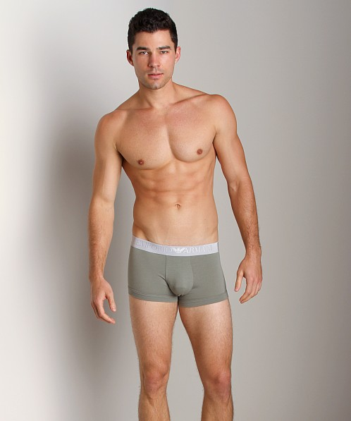 Emporio Armani Soft Cotton Trunk Sage