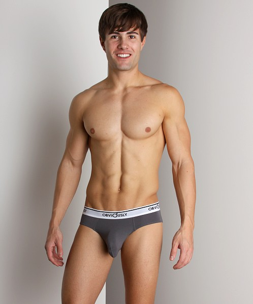 Obviously Full Cut Briefs Dark Grey
