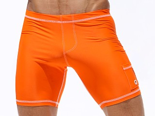 Rufskin Liner 2-Panel Cycle Nylon Spandex Short Orange