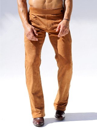Rufskin Brooklyn Ultra-Suede Boot Cut Track Pant Tobacco Brown