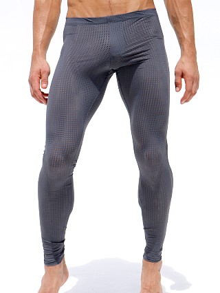 Rufskin Grid Mesh Workout Leggings Lead/Highlighter