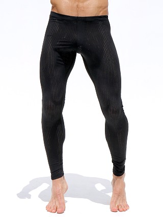 Rufskin Grid Mesh Workout Leggings Black/Citron