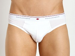 DSQUARED 100% Cotton Melange Brief Optical White