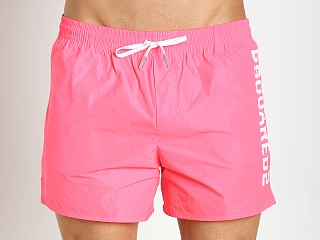 DSQUARED Swim Shorts Fluo Fuxia