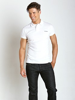 DSQUARED Piquet Chic Polo Shirt Optical White