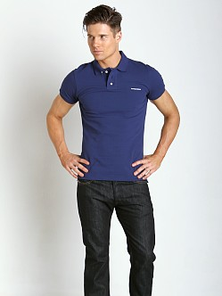 DSQUARED Piquet Chic Polo Shirt Navy