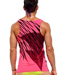 Rufskin Flare Printed Stretch Sport Tank Top, view 4