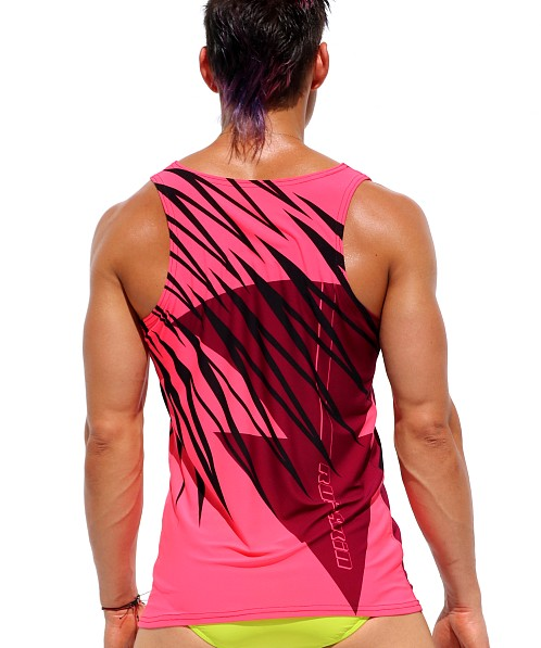 Rufskin Flare Printed Stretch Sport Tank Top