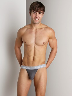 Obviously Low Rise Thong Dark Grey