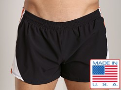Pistol Pete Flyer Swim Short w/Liner Black/Orange