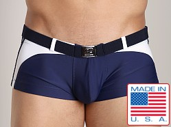 Pistol Pete Impulse Midcut w/Belt and Buckle Navy/White