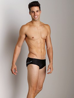 Speedo Poly Spandex Logo Brief Black