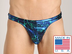 Pistol Pete Voltage Thong Green/Blue