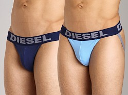 Diesel Jocky Jockstrap 2-Pack Blue/Light Blue