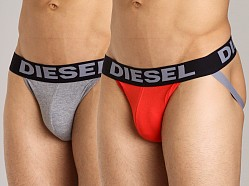 Diesel Jocky Jockstrap 2-Pack Red/Grey