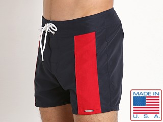 Sauvage Boardwalk Surf Short Navy/Red