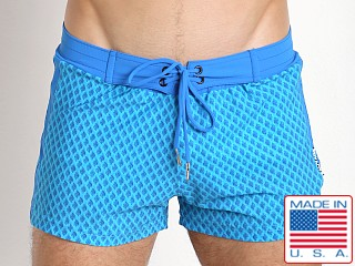 Sauvage Italian Diamond Swim Trunk Blue