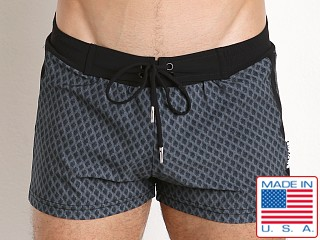 Sauvage Italian Diamond Swim Trunk Black