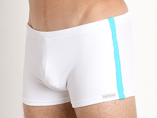You may also like: Sauvage Pique Textured Squarecut Swim Trunk White/Turq