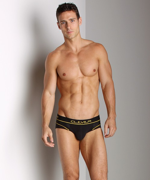 Clever Cotton Mesh Brief Black/Yellow