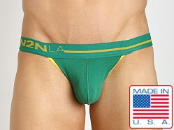 N2N Bodywear Primary Colors Jockstrap Green