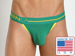 N2N Bodywear Primary Colors Sports Brief Green