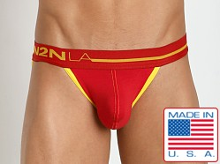 N2N Bodywear Primary Colors Sports Brief Red