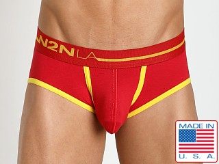 N2N Bodywear Primary Colors Brief Red