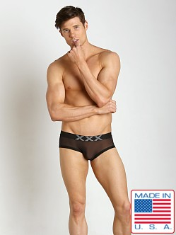 N2N Bodywear XXX Nylon Mesh Trunk Sheer Black