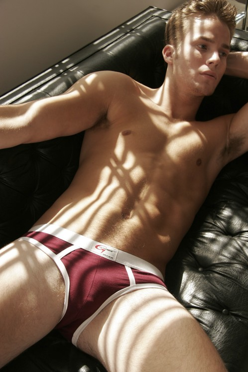 Go Softwear Burgundy/White Lo-rise Briefs