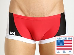 N2N Bodywear Sea Diver Swim Trunk Red/Blk/White