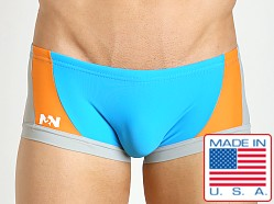 N2N Bodywear Sea Diver Swim Trunk Agua/Orange/Grey