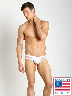 N2N Bodywear Nitro X Mesh Panel Swim Brief White