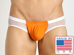 N2N Bodywear Nitro X Mesh Panel Swim Brief Orange