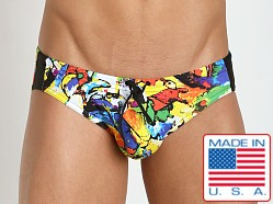 N2N Bodywear LA Pop Sport Swim Brief Print