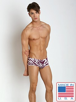 N2N Bodywear Safari X Swim Trunk Purple