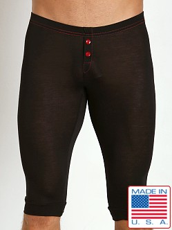 N2N Bodywear Lodge Mid Johns Black