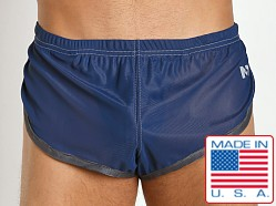 N2N Bodywear 100% Nylon Euro Split Short Navy