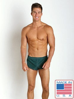N2N Bodywear 100% Nylon Euro Split Short Hunter Green
