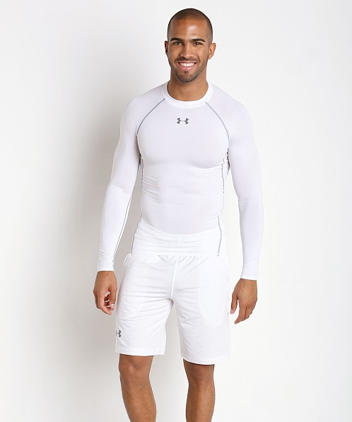 Under Armour Heatgear Longsleeve Compression Tee White