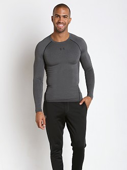Under Armour Heatgear Longsleeve Compression Tee Carbon Heather