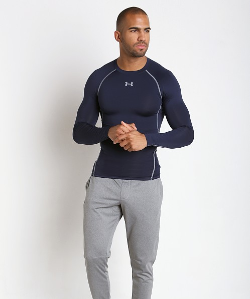 Under Armour Heatgear Longsleeve Compression Tee Midnight Navy