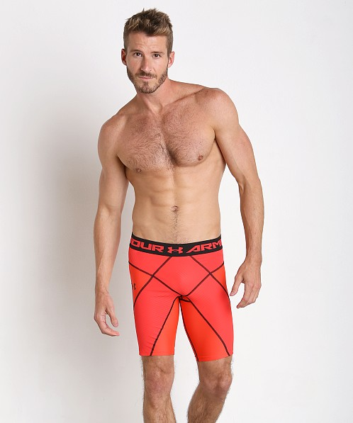 Under Armour Heatgear Compression Core Short Rocket Red